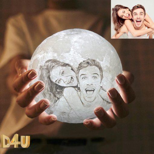 מנורת ירח תלת מימד מתנות לגבר מתנות למשפחה-5