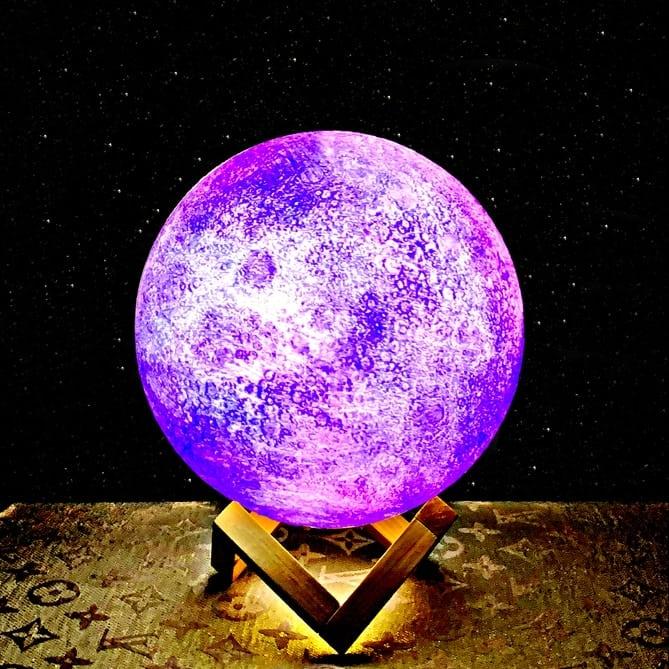 מנורת ירח גלקסיה צבעוני