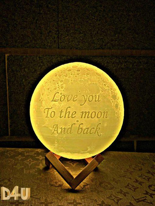 מתנה כדור מנורת ירח תלת מימד love you to the moon and back-2
