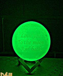 מתנה כדור מנורת ירח תלת מימד love you to the moon and back