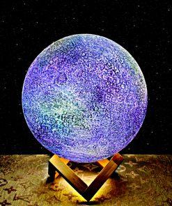 מתנה מנורת ירח תלת מימד גלקסיה