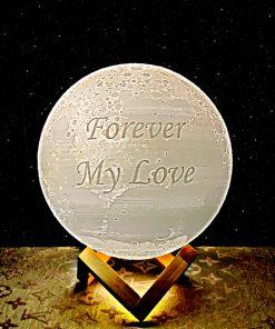 מתנה מנורת ירח תלת מימד לאישה ולגבר 2