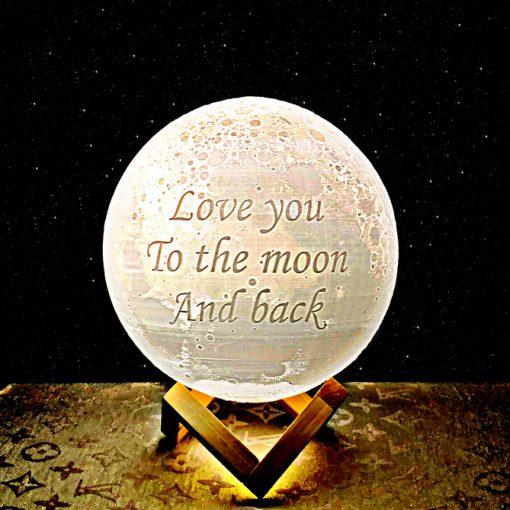 מתנה מנורת ירח תלת מימד לאישה ולגבר 4