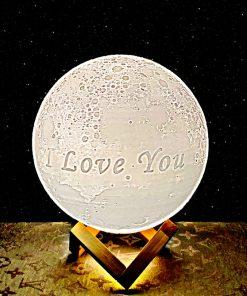 מתנה מנורת ירח תלת מימד לאישה ולגבר 5