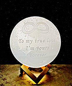מתנה מנורת ירח תלת מימד לאישה ולגבר 7