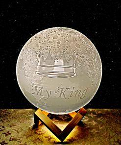 מתנה מנורת ירח תלת מימד לגבר 3