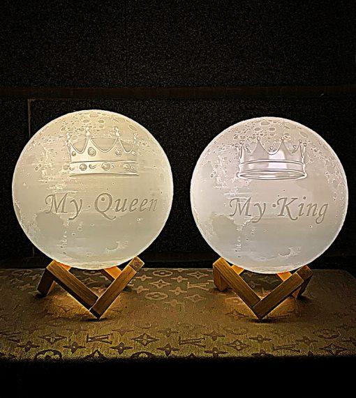 מתנה סט מנורת ירח תלת מימד לאישה ולגבר 4